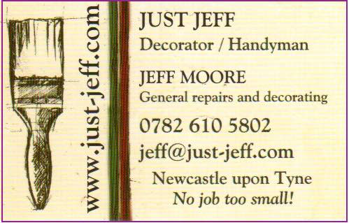 Business card - all text on page